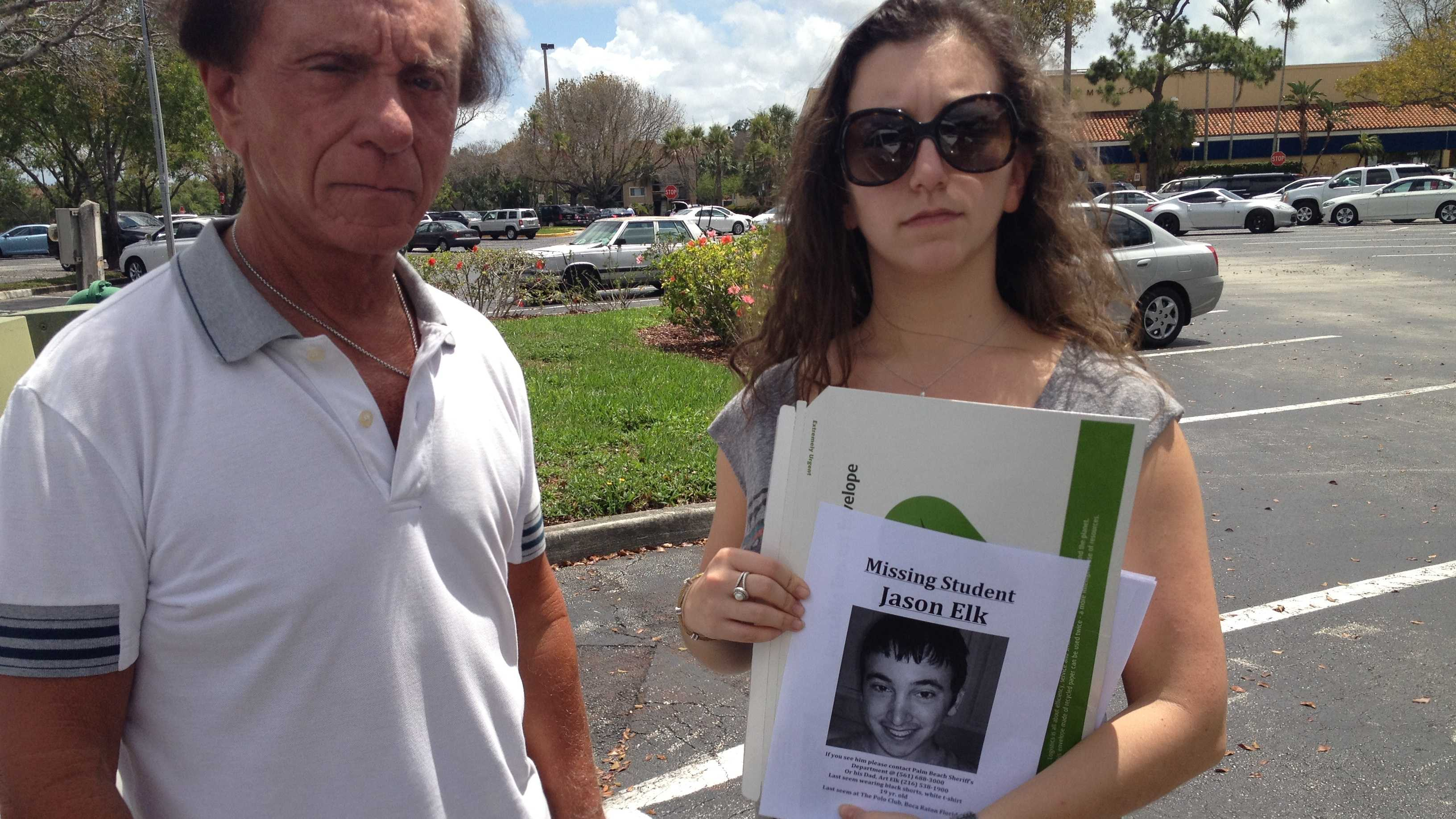 Arthur Elk and his daughter, Hillary, are searching for Lynn University student Jason Elk.