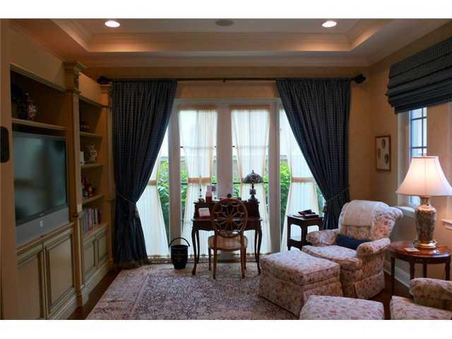Exquisite TV room.