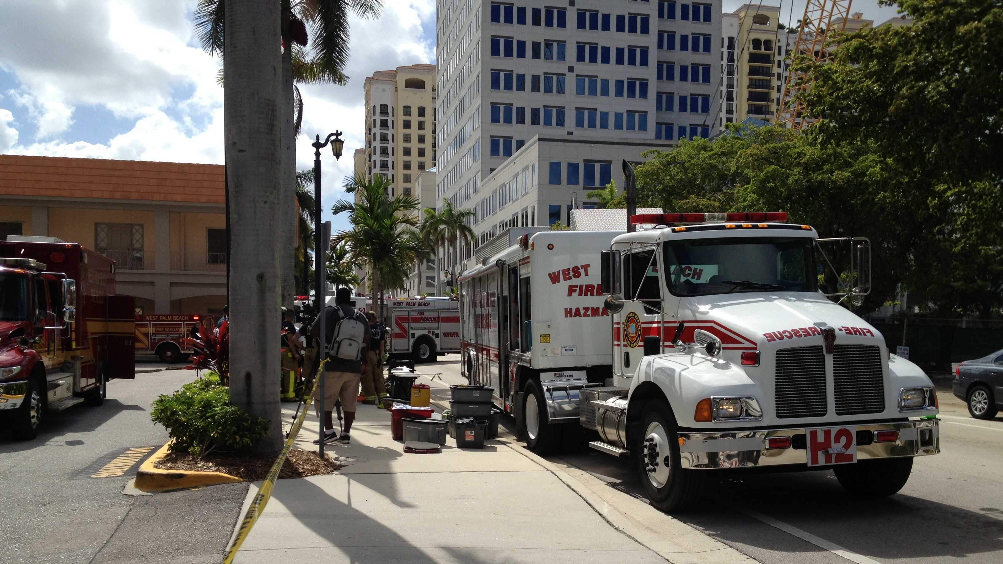 MacArthur Hall on the campus of Palm Beach Atlantic University was evacuated Tuesday.