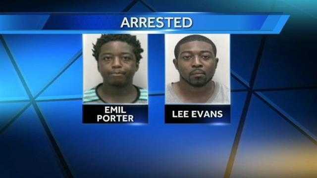 Emil Porter and Lee Evans arrested