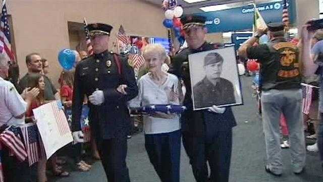 World War II veterans were honored at Palm Beach International Airport Saturday night.