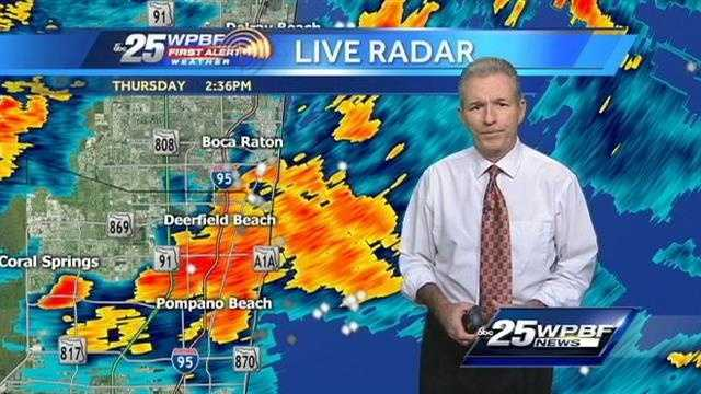Mike Lyons said an increasingly dangerous situation is developing in southern Palm Beach County on Thursday afternoon.
