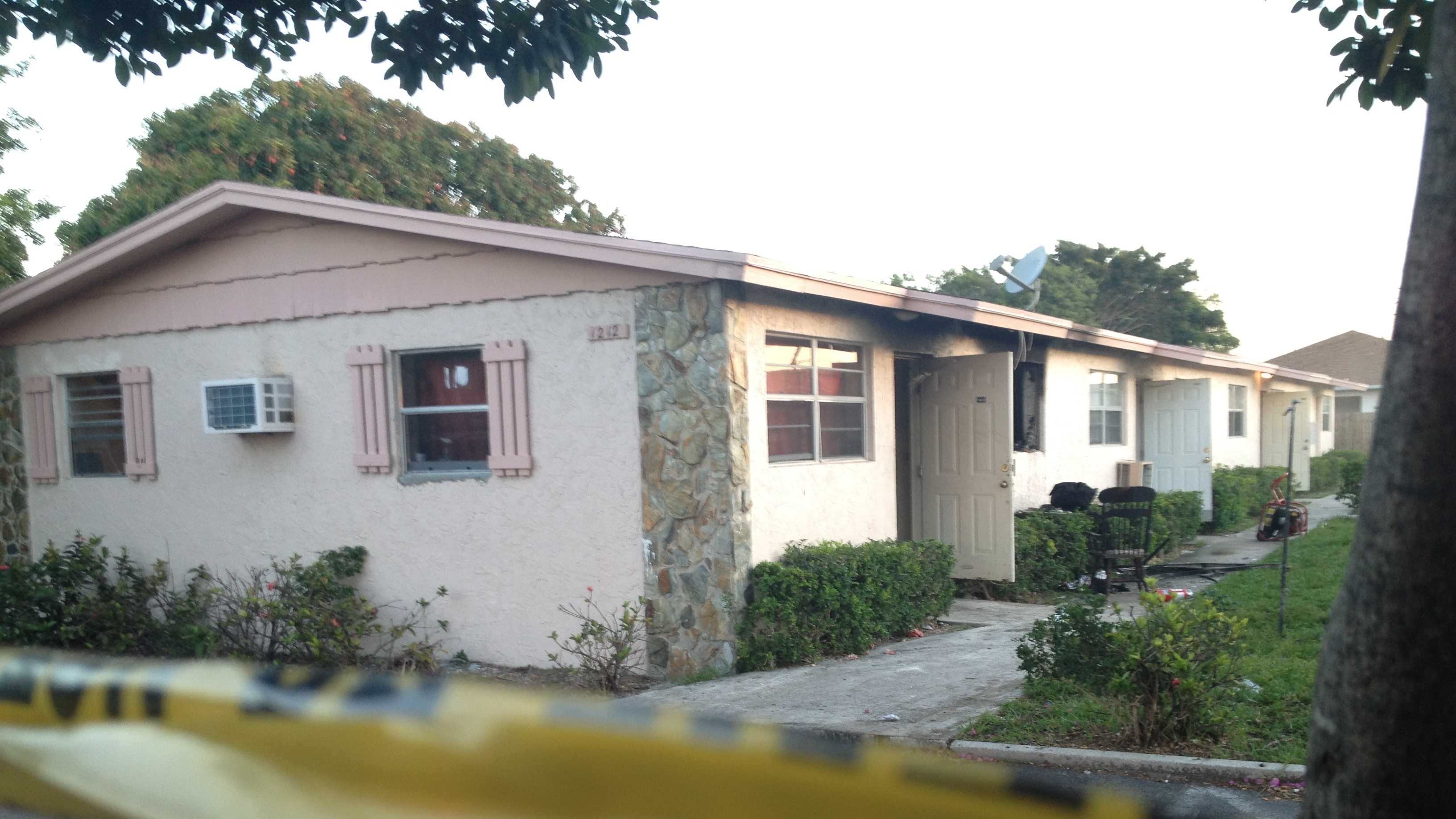 One bedroom was damaged in a house fire Monday morning in Lake Worth.