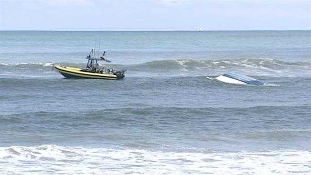 Two people were taken to Jupiter Medical Center after their boat capsized off Dubois Park.