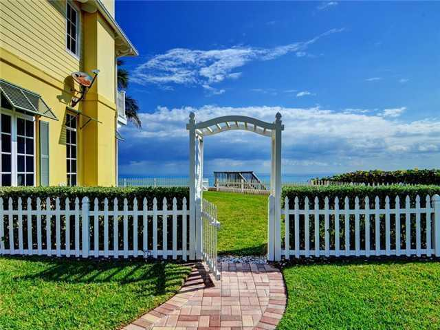 Even your own fenced in backyard before you step onto the ocean.