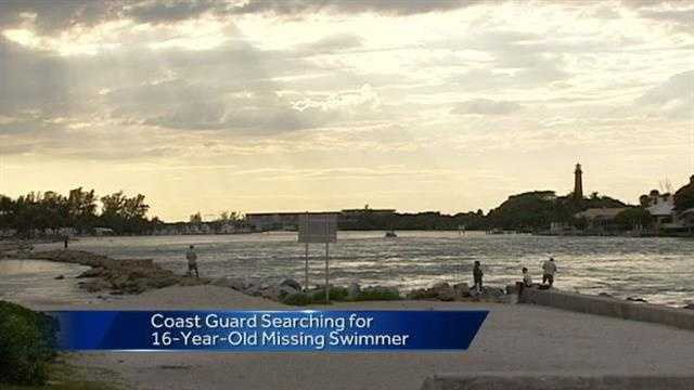 Coast Guard searches for teen swimmer