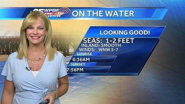 Sandra says another beautiful day is on tap around the Palm Beaches and Treasure Coast.