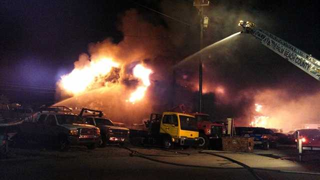 An auto repair shop was destroyed by fire overnight in Belle Glade.