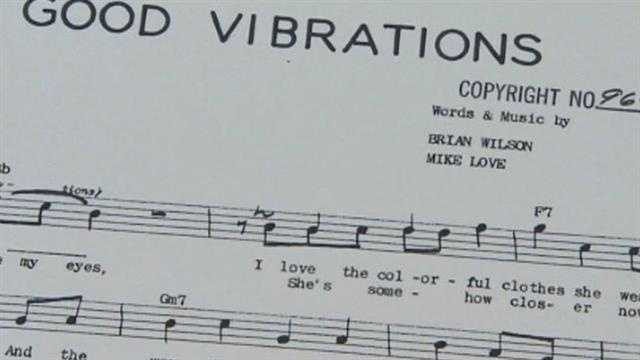 "This is an original piece of sheet music to the song ""Good Vibrations"" (1966)."