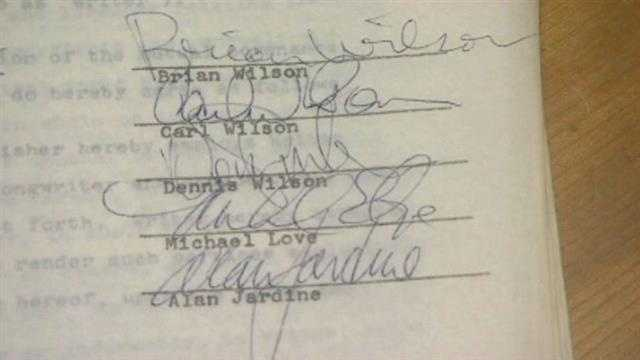 This document was signed by the original members of the band.