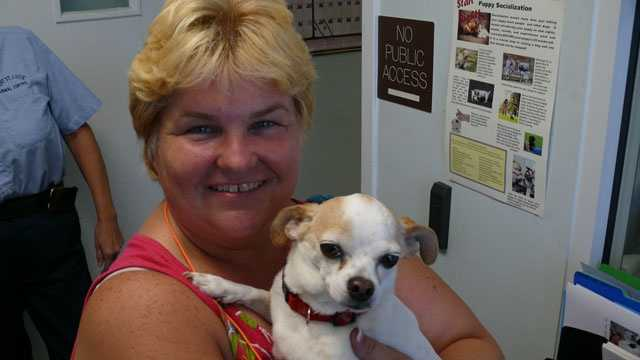 Patricia Giachetti has been reunited with her lost Chihuahua, Mojito.