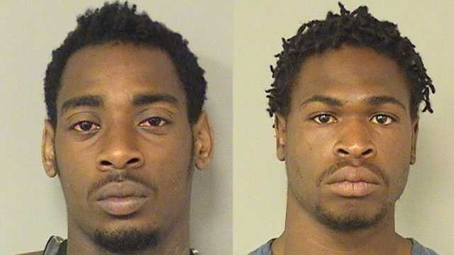 Marvin Moore (left) and Jarvis Williams were arrested in connection with a fatal shooting in Belle Glade.