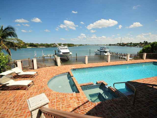 Huge jacuzzi and pool steps away from the boat deck.