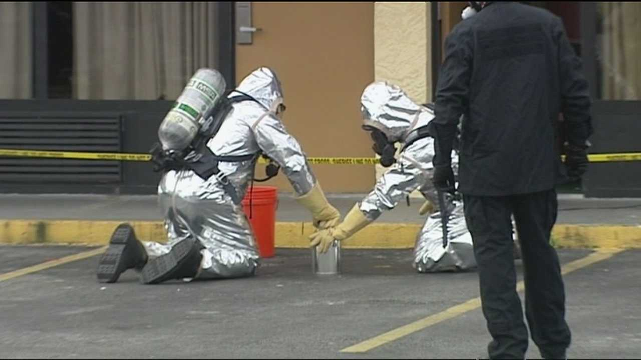 Investigators arrest one woman and are searching for two others after finding a meth lab inside a Fort Pierce motel room.