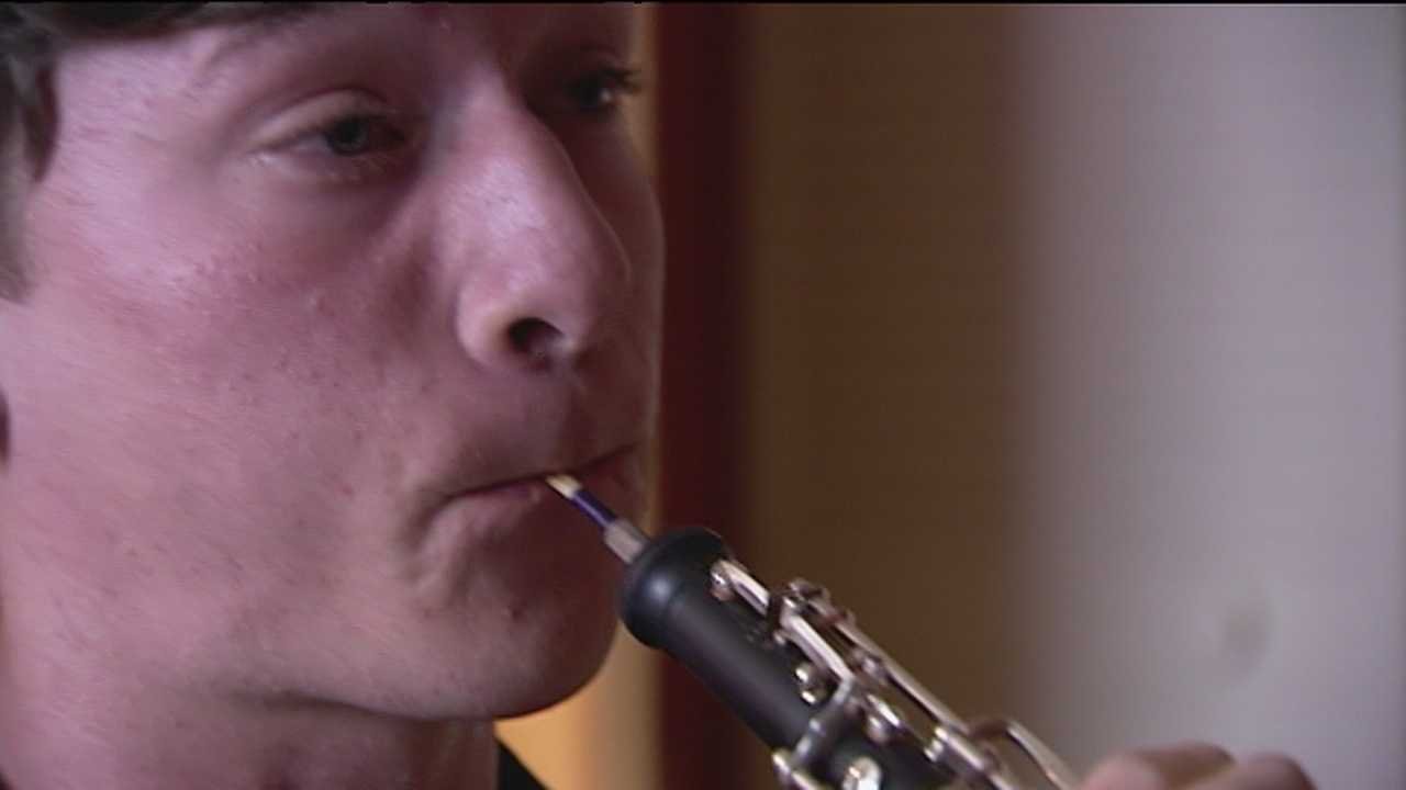 Tyler Morrison, who has been in and out of foster care, discovered his love for music at Dreyfoos School of the Arts.
