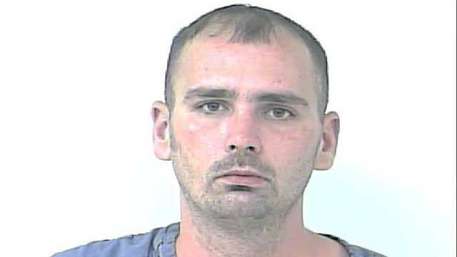 Dustin Grigsby is accused of robbing an Advance Auto Parts store in Port St. Lucie.