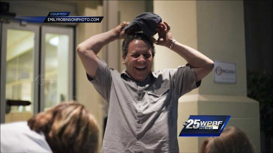 Proud papa Joe Cavaretta, also a photojournalist, can't hide his joy at the birth of his second child.