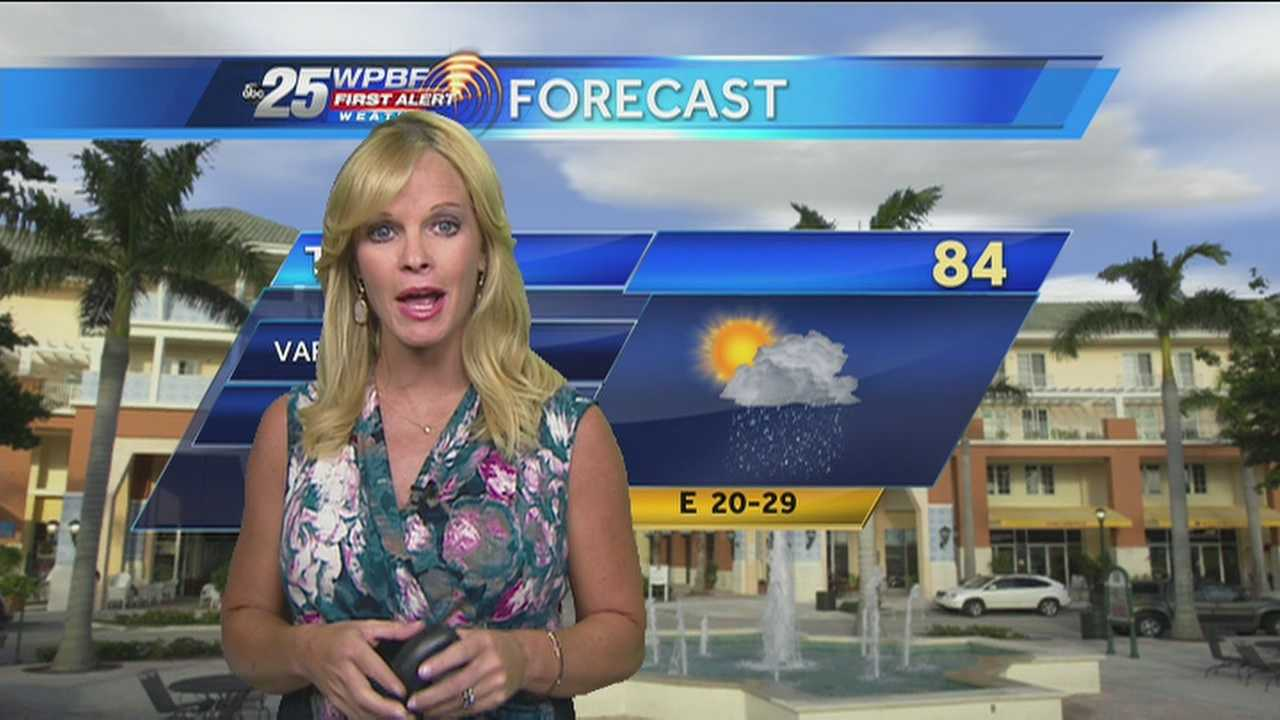 Sandra Shaw says the wet weather pattern will continue throughout the day.