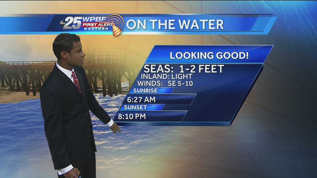 Justin says the wet weather trend will continue around the Palm Beaches and the Treasure Coast on Monday.