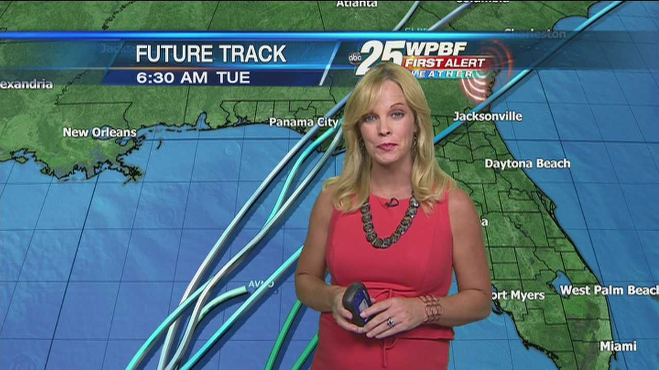 Sandra says the system that's brewing in the Gulf of Mexico could bring heavy rains to the area by the end of the week. Until then, guess what you can expect? You got it: heavy rains.