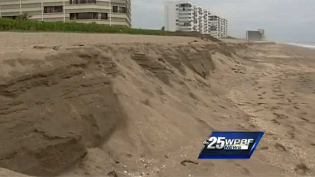 The St. Lucie County coastline is in rough shape after a series of storms rolled through the area last week, causing concern for beachgoers and turtle activists.