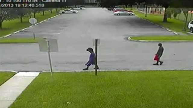These two men stole a gold necklace right off the neck of a woman jogging in a park in Boca Raton.