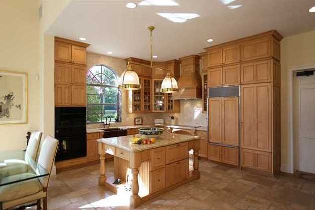 Custom cabinetry throughout the kitchen.