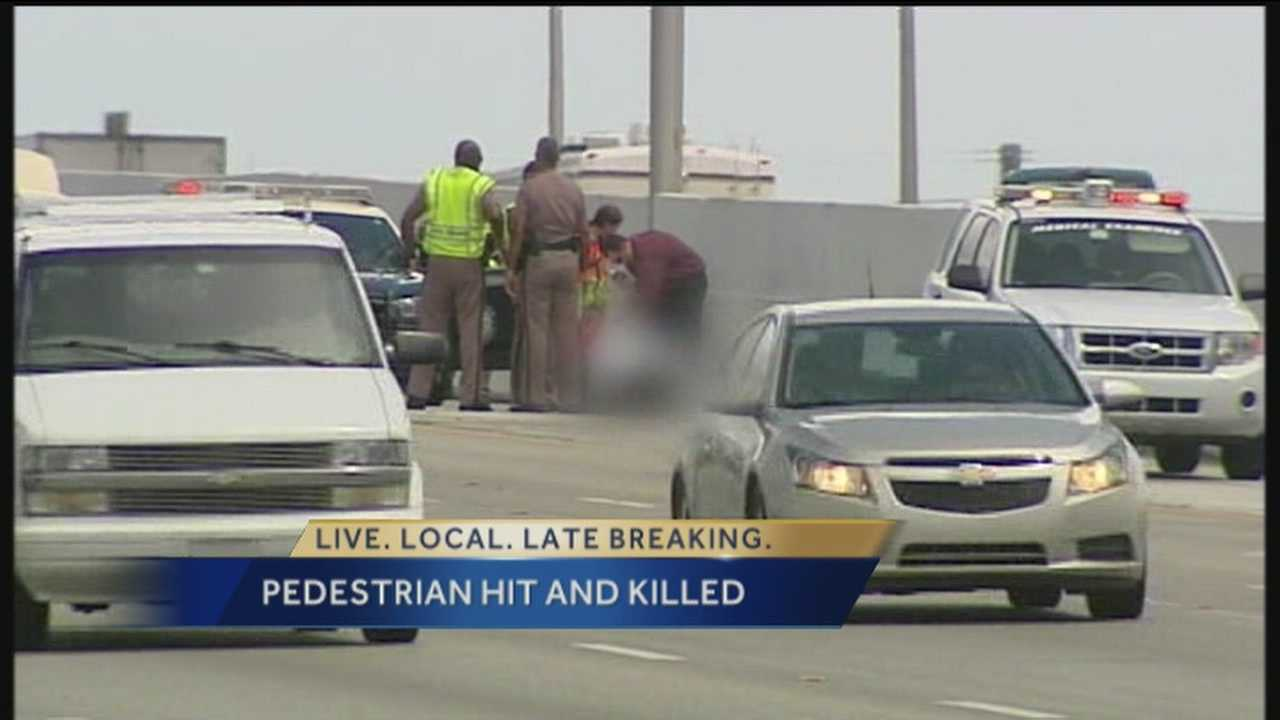 A woman is struck and killed by a van after walking into traffic on Interstate 95 in Riviera Beach.