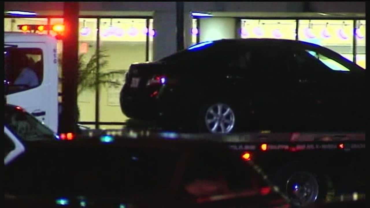 A 2-year-old girl is in critical condition after she was caught in the crossfire during a Riviera Beach shootout.