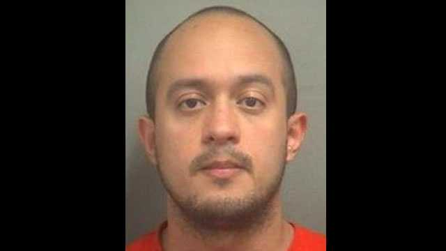 West Palm Beach police Officer Francisco Maldonado was arrested on a domestic battery charge.