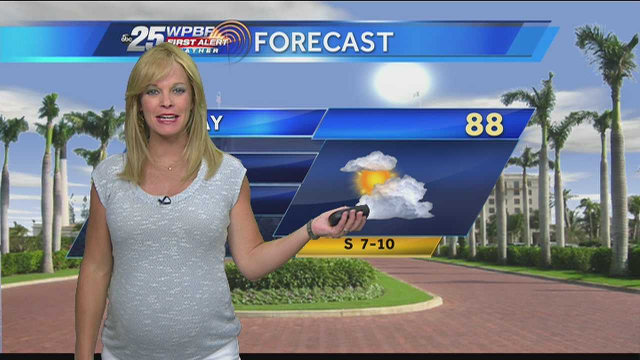 Sandra Shaw says to expect an afternoon shower to start the work week.