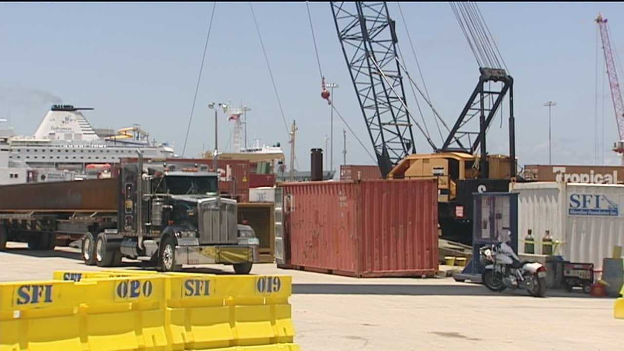 A contractor at the Port of Palm Beach was run over by a truck.