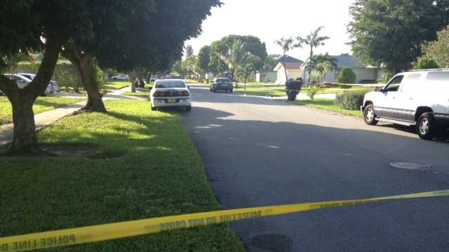 A teenager was grazed in the head by a bullet Tuesday night in West Palm Beach.