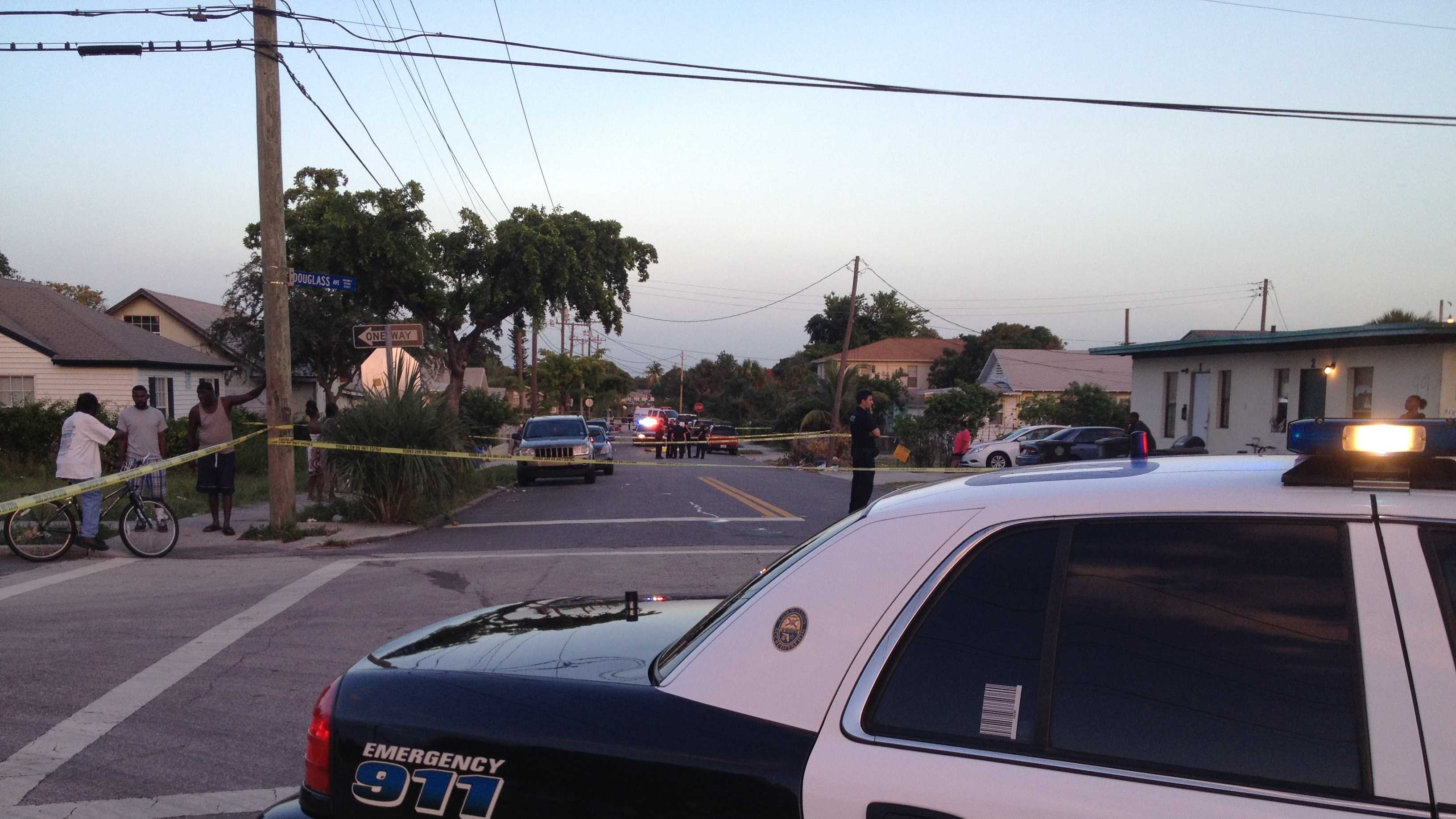 A man was found shot dead in the middle of Eighth Street in West Palm Beach.