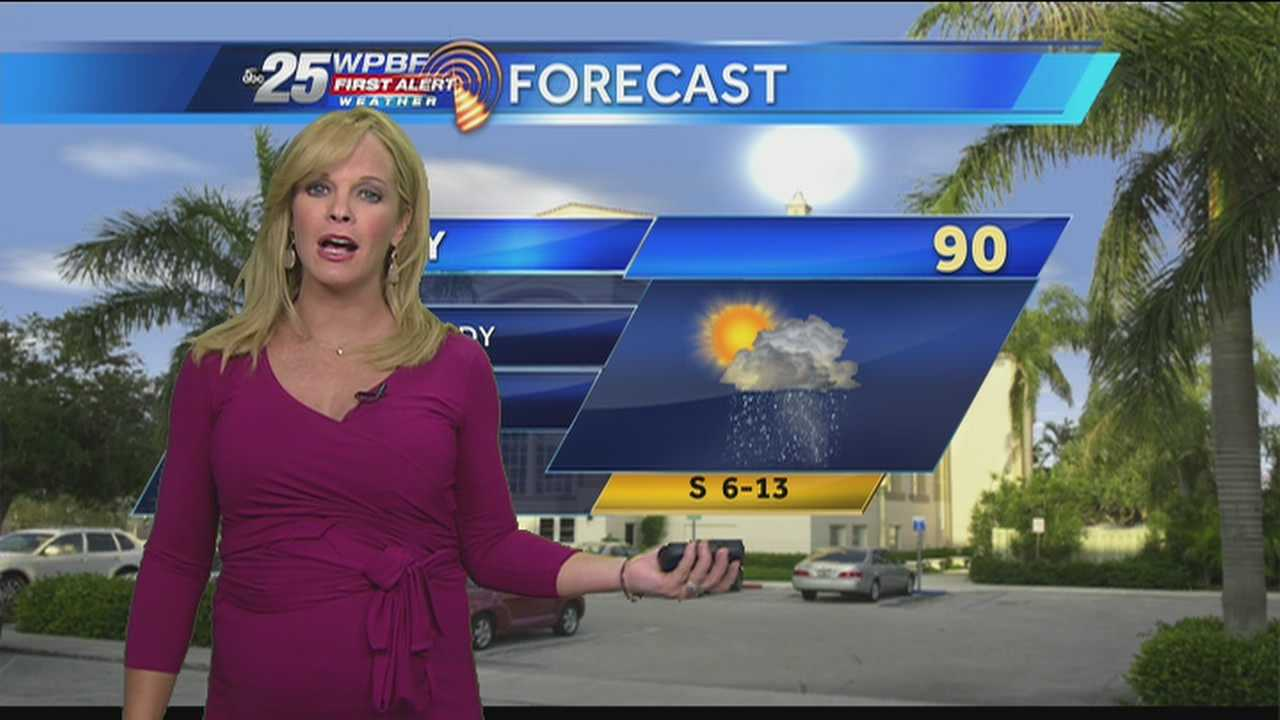 Sandra Shaw says to expect scattered showers and another steamy day on the final day of spring.