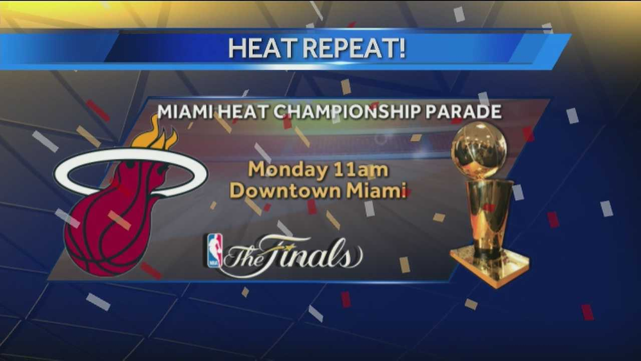 Miami Heat victory parade graphic