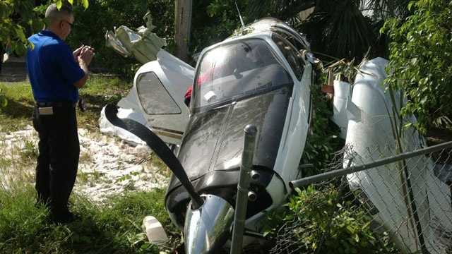 This small plane crashed off Dixie Highway in Pompano Beach.