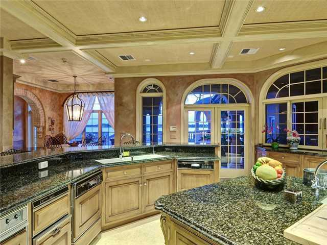 Take a peak inside this beautiful kitchen, which also overlooks the ocean view.