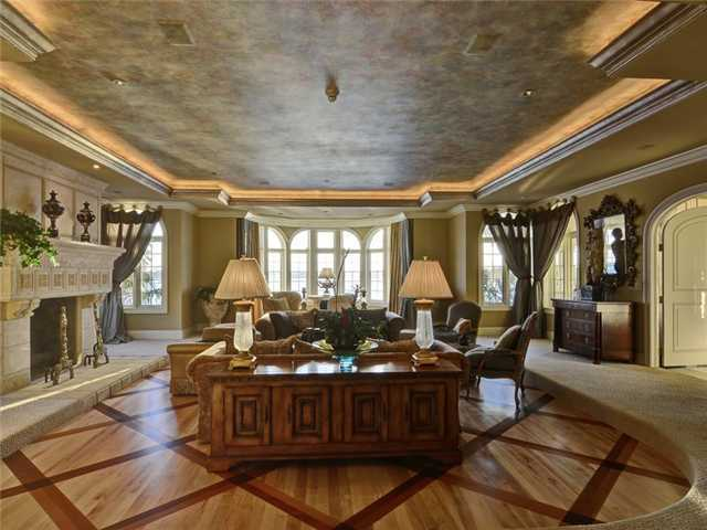 Also on the main floor is this gracious living room.
