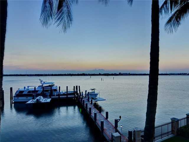 Your yacht will be right at home on this lengthy dock.