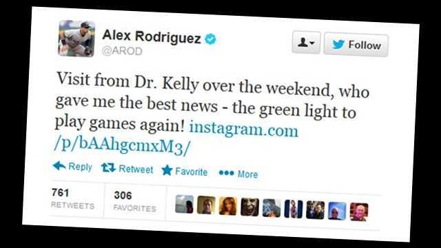 A-Rod Tweet