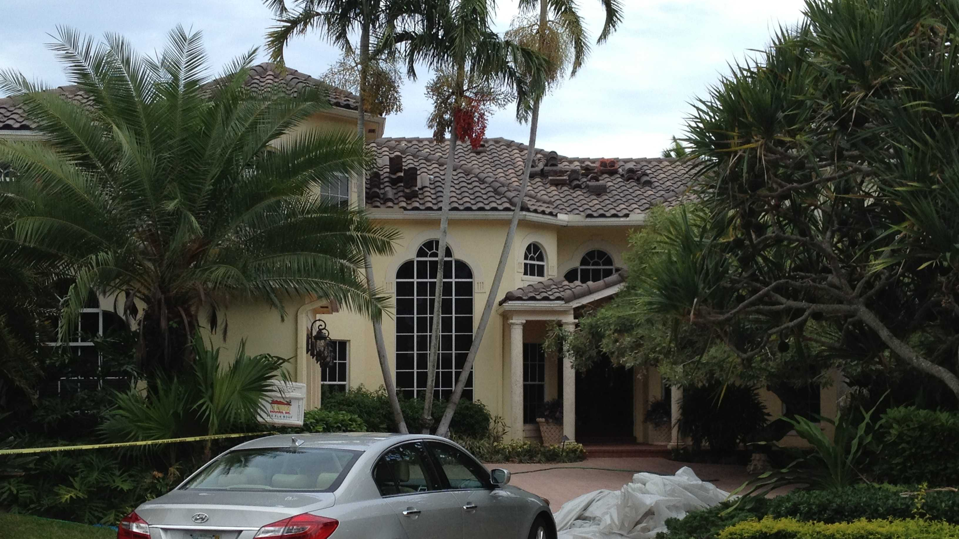 A 21-year-old man was electrocuted while working on this home in Boca Raton.