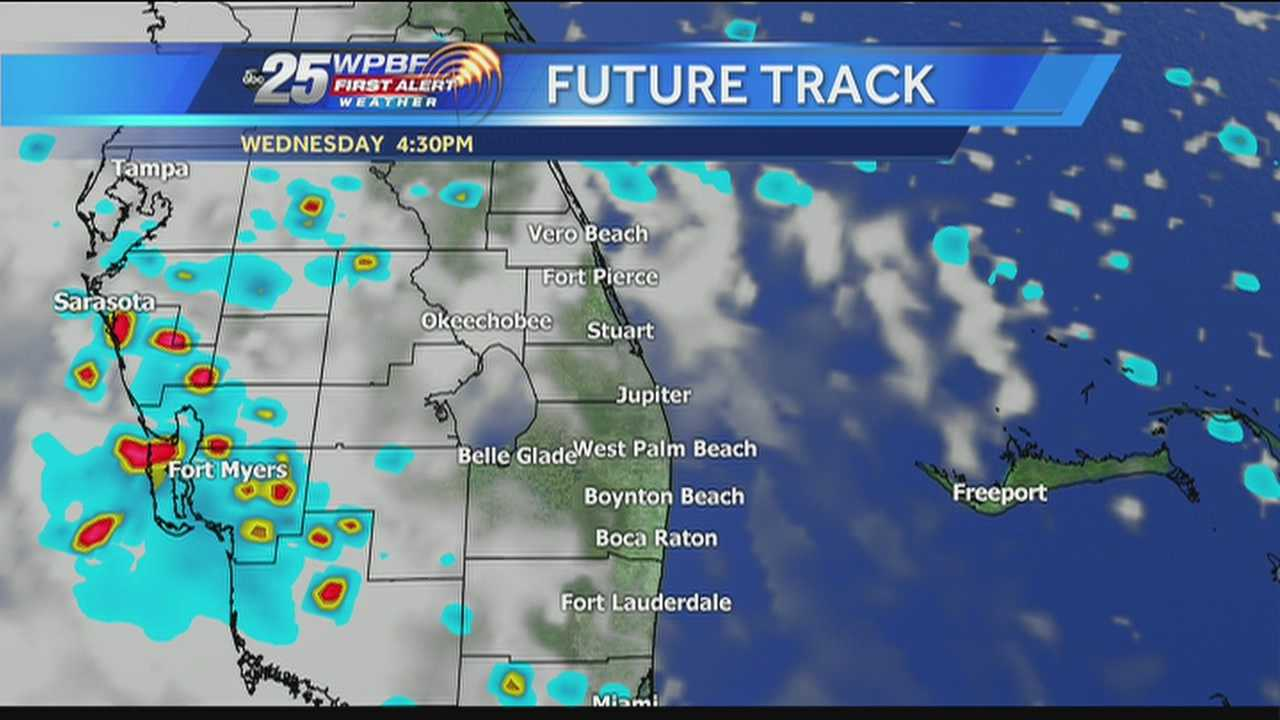 Felicia says more wet weather is expected around town Wednesday, but things are expected to get better for the holiday weekend.