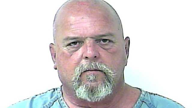 Jeffery Jordan is accused of choking his girlfriend and ramming his Jeep into her garage.