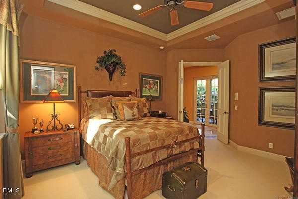 Each bedroom is extremely spacious and features vaulted ceilings.