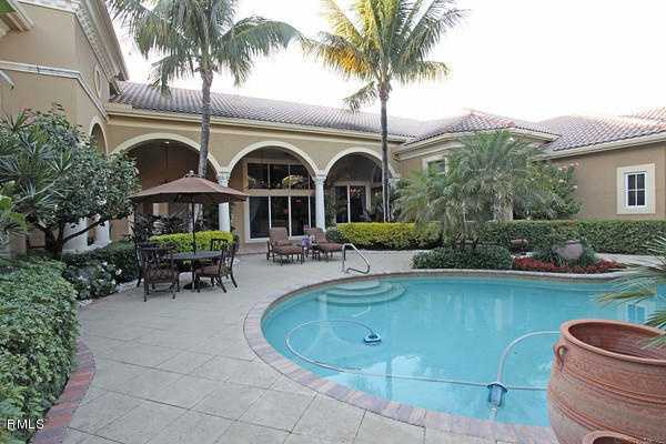 View of the home's pool.