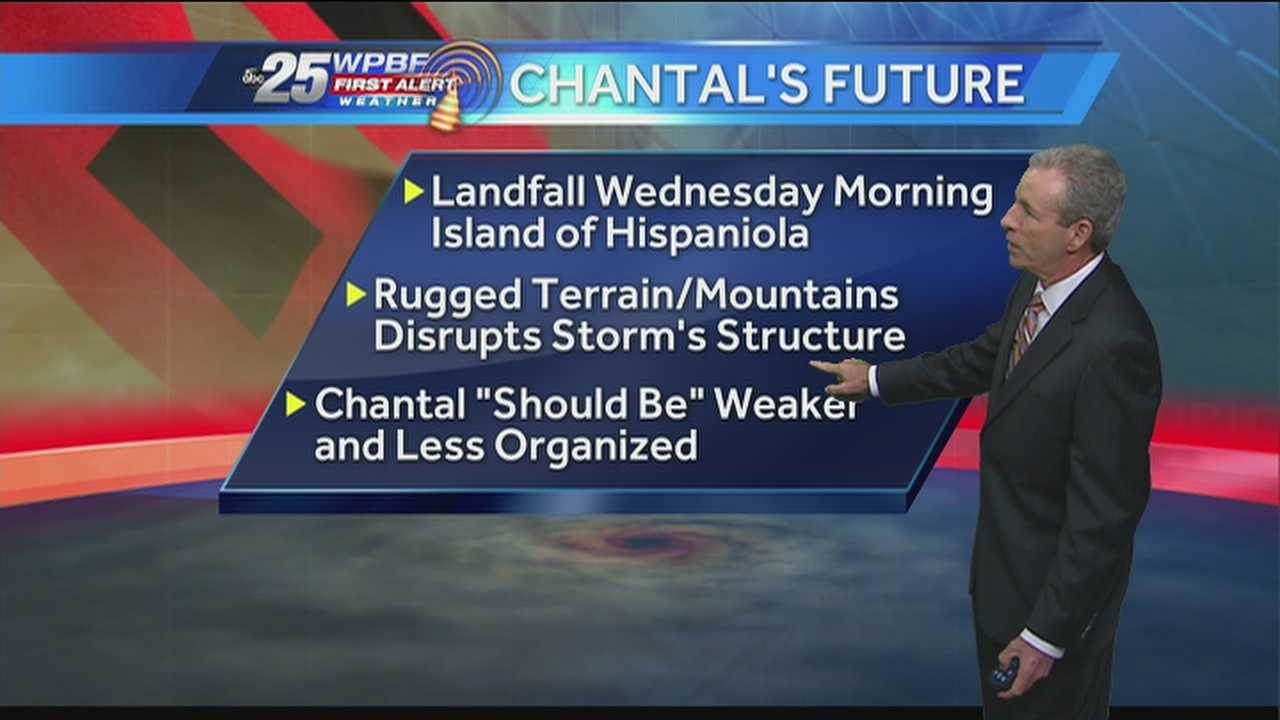 Mike Lyons says the island of Hispaniola could slow Tropical Storm Chantal down, but if it doesn't, South Florida could get hit hard.