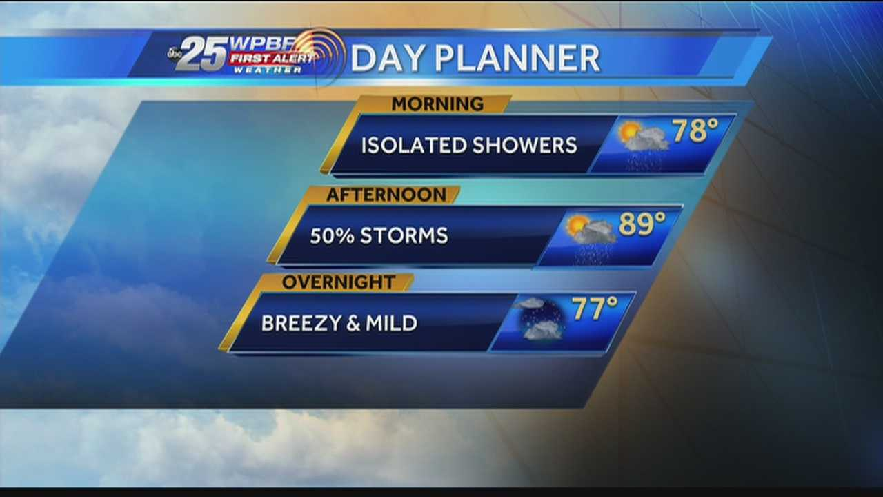 Felicia says wet weather is expected on-and-off throughout the day Wednesday.
