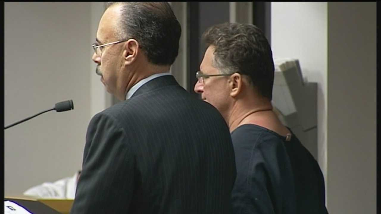 Barry Schultz faces a judge during his initial court appearance Wednesday morning.