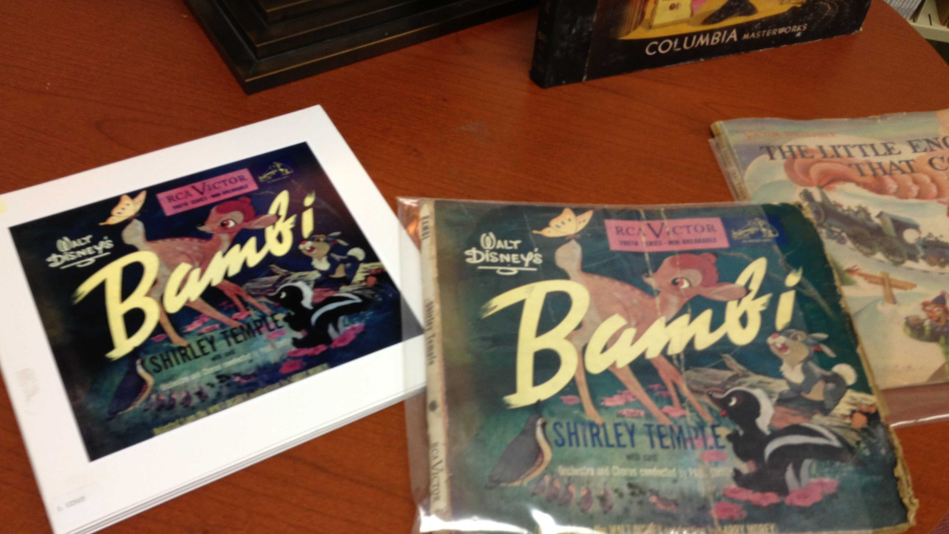 This Bambi record is one of hundreds of children's records that Florida Atlantic University's Recorded Sound Archives is working to restore.